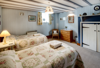 Twin Bedroom, Finechambers Chapel Holiday Cottage, Hexham, Northumberland